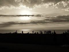 Sunset (maartenoortwijn) Tags: iphone iphoneography oortwijn sunset snapseed zwartwit monochrome noordwijk beach blackandwhite