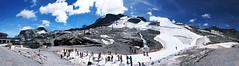 Skiing in August (einervonneruhr) Tags: olympus omd em5 mzuiko 1250mm hintertux hintertuxer gletscher glacier panorama sterreich austria tirol tyrol august 2016 alpen alps