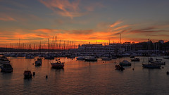 Sunset at Mayflower Marina (Rich Walker75) Tags: plymouth devon sunset marina uk england landscape landscapes sky cloud evening dusk tourism travel boat boats