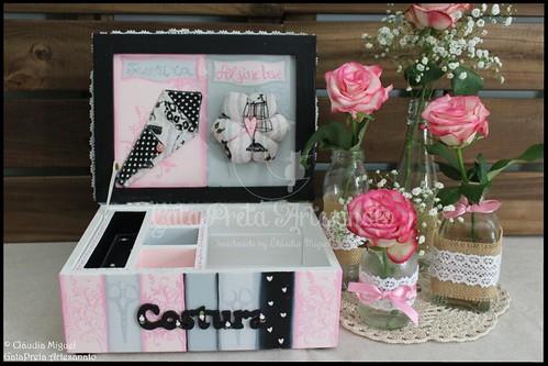 "Caixa de costura ""Vintage Rose"""