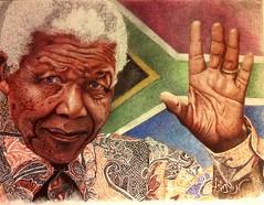 Mandela Stylo bille (sergenoel) Tags: dessin stylo mandela nelson pen penart sergo clbrit