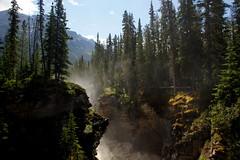 At the Athabasca Falls (Stefan Jrgensen) Tags: jaspernationalpark 2013 sony dslra700 a700 canada rockymountains alberta athabasca river falls waterfall athabascariver icefieldsparkway