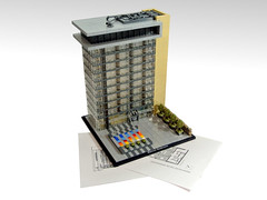 Mainzer Stadtwerke (Disco86) Tags: lego moc archtiecture skyscrpaer hochaus stadtwerke work glass front microscale trees