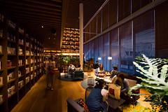 TSUTAYA Hirakata Branch on lounge space () (christinayan01) Tags: japan osaka tsutaya interior architecture building perspective book store