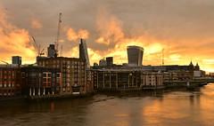 The Great Fire of London. (pentlandpirate) Tags: milleniumbridge fire london billingsgate puddinglane river thames england sunrise dawn nofilters