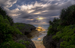 Okinawa4 (NatashaP) Tags: sunset sea seascape beach japan landscape rocks explore okinawa hdr interestingness161 flickrclassique