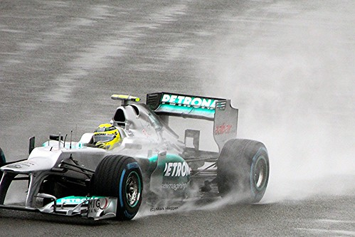 Nico Rosberg's Mercedes at Silverstone