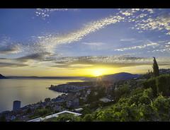Montreux lightshow (Matt Toussaint) Tags: sunset sun switzerland soleil suisse coucher lac stormy hdr montreux vaud romandie myswitzerland pertit