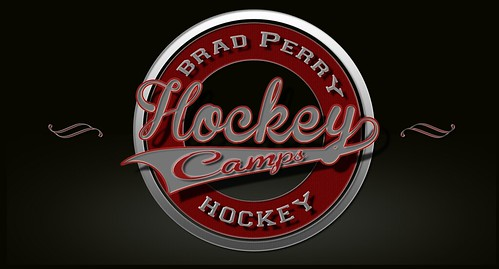 Vintage Brad Perry Hockey logo