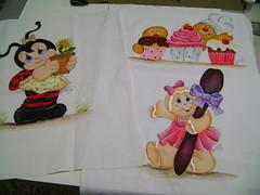 Panos de Copa pintados à mão (Ateliê da Drica) Tags: ginger cookie cupcake decoração cozinha presente joaninha pinturaemtecido enxoval panodeprato panosdecopa gingercozinheira