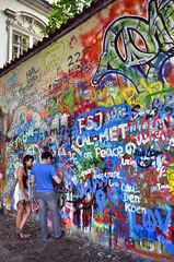 The Lennon Wall (inFocusDCPhoto  Young Spanish photographer) Tags: people urban color muro art wall nikon arte gente prague july praga julio nikkor lennon 2012 7000 d7000