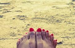 Pretty Mess (Stuti ~) Tags: red sea people india white black feet beach by walking sand toes pretty angle indian low flip converse flipflops arabian mumbai flop bnw juhu chappal nailpaint stutisakhalkar thecheesecakeproject