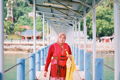 My mother (mr_i) Tags: sky cloud sun seascape tree green beach nature landscape island 50mm leaf nikon bokeh superia hijab clear jungle harmony malaysia fujifilm lonely nikkor folks fm2 f12