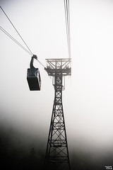 And, Up we rise ! - D800 (Teo Morabito) Tags: france up fog clouds mysterious carrier brume tlcabine telpher nugage