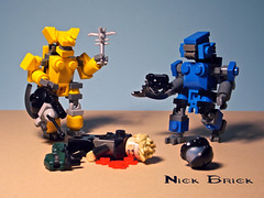 Brutes (Nick Brick) Tags: 3 lego halo captain spike minor grenade brute spiker covenant brickarms odst brickforge bruteshot