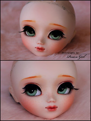 Polka - Pullip Rida Custom (-Poison Girl-) Tags: green apple girl closeup eyes doll dolls eyelashes head handmade bald makeup lips polka groove pullip freckles poison custom pullips poisongirl customs rida faceup eyechips junplanning pulliprida pullipcustom rechipped ridacustom