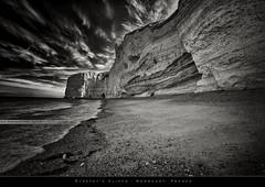 Étretat's Cliffs #2 (bgspix) Tags: bw france landscape blackwhite interesting cliffs normandie normandy hdr etretat falaises canonef1740f4l canoneos5dmarkiii bgspix