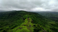 Monsoon (flickrohit) Tags: trees sky green nature rain fort monsoon rohit htc onex sajjangad rohitgowaikar