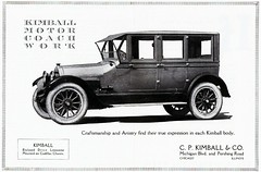 Kimball Enclosed Drive Limousine Body on Cadillac Chassis, 1922 (aldenjewell) Tags: chicago illinois ad cadillac il 1922 limousine kimball coachbuilt