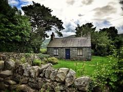 Near Llyn Padarn, Snowdonia, Gwynedd, Wales (Randy Durrum) Tags: uk house stone wall wales clouds canon europe hiking cottage snowdonia 2012 gwynedd llynpadarn s95 durrum leuropepittoresque canons95 snapseed