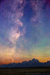 "Milky Way Dawn over Grand Tetons (IronRodArt - Royce Bair (""Star Shooter"")) Tags: park sky usa mountains nature night america dark stars star evening twilight shiny long exposure heaven glow shine nightscape time dusk infinity space deep grand twinkle astro sparkle galaxy national astrophotography planet astronomy grandtetons teton universe exploration range cosmic starry cosmos constellation distant nightscapes starrynight milkyway tetonrange starlight grandtetonnationalpark elkranchflats starrynightsky"