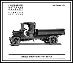 1920 Pierce-Arrow 5 Ton Truck (carlylehold) Tags: new york art truck vintage buffalo advertisement 1920 piercearrow haefner fiveton heafner carlylehold 5tone robertchaefner