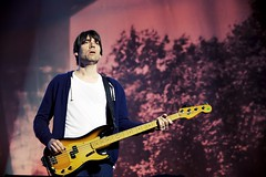 Blur at Hyde Park - Alex James (Letselliott) Tags: music blur london alex james concert live gig hydepark lastfm:event=3207275