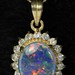 4034. Opal Pendant and Chain