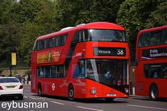 Arriva London LT1, LT61AHT. (EYBusman) Tags: new city bus london westminster electric for coach diesel garage centre north transport victoria depot wright hackney hybrid regional arriva lt1 nb4l eybusman borismaster lt61aht
