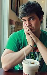 Cody (Sara's Smile) Tags: boy summer black guy green walking dead spring cafe friend drink soda cody 2012 senoia canonrebelt3
