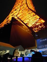 Feng Shui wolves of Tokyo tower (Germán Vogel) Tags: light sculpture tower night tokyo wolf asia landmark fengshui eastasia