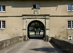 Bridge across the moat to enter Castle Westerwinkel (joeke pieters) Tags: bridge castle germany deutschland brug moat schloss duitsland gracht kasteel wasserschloss herbern westerwinkel panasonicdmcfz150 1010269