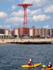 2012 Rose Pitonof Swim - Manhattan to Coney Island (jag9889) Tags: city nyc ny newyork water brooklyn race swim coneyisland harbor boat kayak image volunteers event eastriver swimmer athlete escort 2012 binc urbanswim rosepitonof jag9889 y2012 8182012