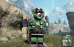 Halo Reach - Heavy Weapons Specialist Spartan (MGF Customs/Reviews) Tags: lego halo reach custom spartan
