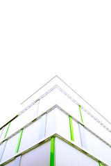 ^ (andersdenkend) Tags: white green architecture pointy pyramid graphic bright geometry contemporary sigma wideangle symmetry pale lookingup architektur bleak foveon spitze weitwinkel dreieck dp1 zeitgenössische