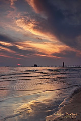 Grand Haven Sunset (Kevin Povenz Thanks for all the views and comments) Tags: blue sunset sun lighthouse reflection beach water clouds evening pier sand kevin dusk michigan august saturdaynight 2012 grandhaven llmsmigrandhaven povenz tpslandscape