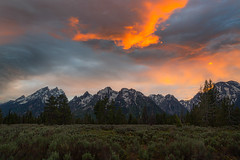 My arrival has been marked by the lightest of lights and the darkest of darks 2 (Ben_Coffman) Tags: bencoffman bencoffmanphotography clouds grandteton grandtetonnationalpark nationalpark sagebrush stormclouds sunset tetons
