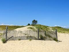 Don't fence me in (Lori Garske) Tags: fence beachfence sand beachgrass sandyhook sandyhooknj lorigarske