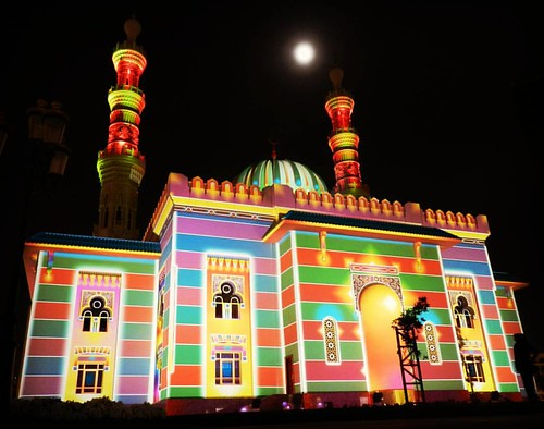 Al Noor Mosque during Sharjah Light Festival.  #AlMajaz #AlNoorMosque #SLF #sharjahlightfestival #mysharjah #Sharjah