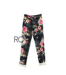 RC// straight high-waisted printed floral trousers ( n a o m i) Tags: straightleg floral printed rose highwaisted fashion fashiondesign sewing handmade