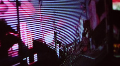 (89ermis) Tags: japan road electric wires power lines sky dusk urban vaporwave vapourwave venetian blinds twilight