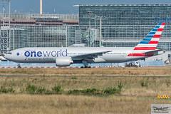 American Airlines Boeing 777-223(ER) N791AN (714145) (Thomas Becker) Tags: american airlines aal boeing b777 777 223 200 772 b772 n791an oneworld cn 30254 ln 289 210600 280600 aa71 dallas fortworth dfw fraport flughafen airport aeroport aeropuerto aeroporto fra eddf frankfurt plane spotting aircraft airplane avion aeroplano aereo  vliegtuig aviao  samolot flugzeug germany deutschland hessen rheinmain nikon d7200 nikkor 80400g dx raw gps aviationphoto cthomasbecker 160817 taxiing profile geotagged geo:lat=50039523 geo:lon=8596970 aerotagged aero:airline=aal aero:man=boeing aero:model=777 aero:series=200 aero:special=er aero:tail=n791an aero:airport=eddf