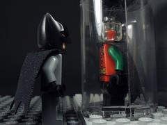 A Reminder (MrKjito) Tags: lego minifig super hero dc batman comics comic under red hood jason todd robin joker trophy room suit bruce wayne