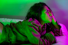 Lauren (Chloe Carrasco Photography) Tags: neon glow colorful lights colorfullighting creativelighting bubblegum butt latina beautiful boudoir