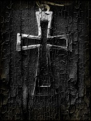 Cross (Jackal1) Tags: cross black white blackandwhite bw art silver cracked