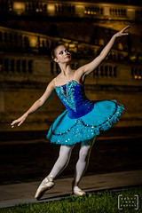 balet dancer in the heart of Budapest #5 (gab.imre) Tags: hungarian girl blue flash art night balet dancer nightshot budapest downtown