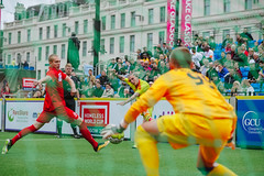 Homeless World Cup 2016, George Square, Glasgow, Scotland - 12 July 2016 (Homeless World Cup Official) Tags: hwc2016 homelessworldcup aballcanchangetheworld thisgameisreal streetsoccer glasgow soccer football tuesday action wales poland scotland