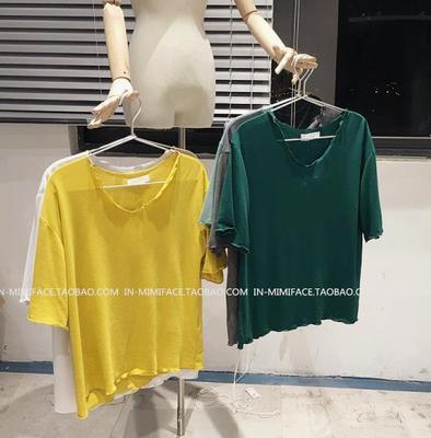 Sommer 2016 neu abnehmen einfarbig Kurzarm lose Top einfachere Joker t Shirt Han Fangemeinde Shirt Frauen