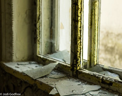 Broken window (Dave and Jodi Piddington) Tags: chernobyl ukraine holiday decay abandonedbuildings death history nucleardisaster accident travel dark tourism darktourism photography architecture nuclear disasters adventure kiev blackandwhite
