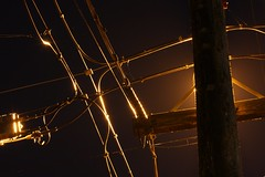 Power Pole Night Shot, Tacoma, Washington (Don Briggs) Tags: donbriggs canon40d powerpolenightshot longexposure